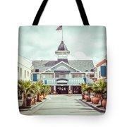 Newport Beach Balboa Main Street Vintage Picture Tote Bag by Paul Velgos