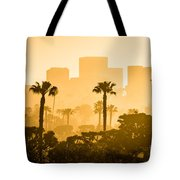 Newport Beach Skyline Morning Sunrise Picture Tote Bag by Paul Velgos