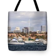 Newport Beach Skyline  Tote Bag by Paul Velgos