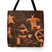 Newspaper Rock Close-up Tote Bag by Gary Whitton