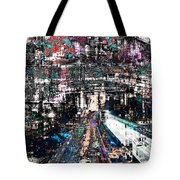 Night Crossover Tote Bag by Mary Clanahan