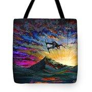 Night Ride Tote Bag by Teshia Art