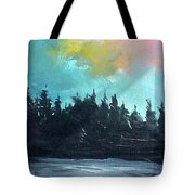 Night River Tote Bag by Sergey Bezhinets