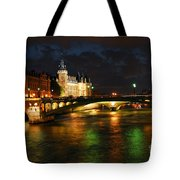 Nighttime Paris Tote Bag by Elena Elisseeva