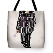 Ninth Doctor - Doctor Who Tote Bag by Ayse Deniz