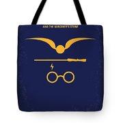 No101 My Harry Potter Minimal Movie Poster Tote Bag by Chungkong Art