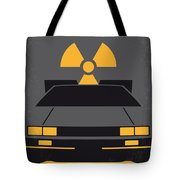 No183 My Back To The Future Minimal Movie Poster Tote Bag by Chungkong Art