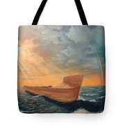 Noah's Ark Tote Bag by Clay Hibbard