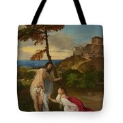 Noli Me Tangere Tote Bag by Titian