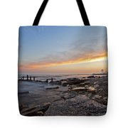 North Point Sunset Tote Bag by CJ Schmit