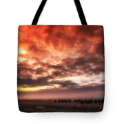 North Sea Sunset Tote Bag by Mountain Dreams