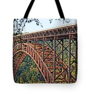 Northeast Close-up Of New River Gorge Bridge Tote Bag by Timothy Connard