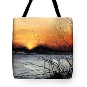November Sunset Tote Bag by Barbara Jewell