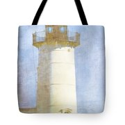 Nubble Lighthouse Tote Bag by Carol Leigh