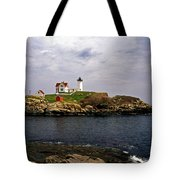 NUBLE LIGHTHOUSE Tote Bag by Skip Willits