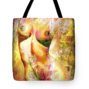 Nude Details - Digital Vibrant Color Version Tote Bag by Emerico Imre Toth