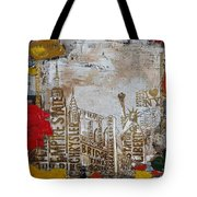 Ny City Collage 7 Tote Bag by Corporate Art Task Force