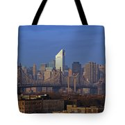 Nyc Citicorp Center And Queensboro Bridge Tote Bag by Juergen Roth
