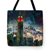 Nyc In Fourth Of July Independence Day Tote Bag by Ylli Haruni