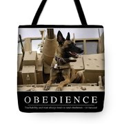 Obedience Inspirational Quote Tote Bag by Stocktrek Images