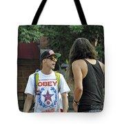 Obey Tote Bag by Minnie Lippiatt
