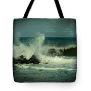 Ocean Impact - Jersey Shore Tote Bag by Angie Tirado
