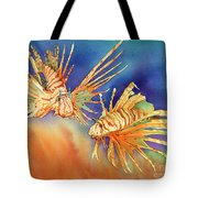 Ocean Lions Tote Bag by Tracy L Teeter