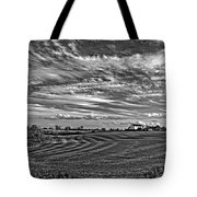 October Patterns Bw Tote Bag by Steve Harrington