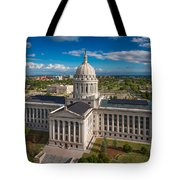 Oklahoma City State Capitol Building C Tote Bag by Cooper Ross