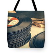 Old 45s Tote Bag by Edward Fielding