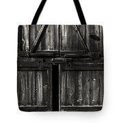 Old Barn Door - BW Tote Bag by Paul W Faust -  Impressions of Light
