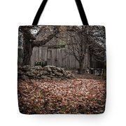 Old Barn In Autumn Tote Bag by Edward Fielding