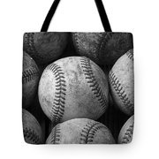 Old Baseballs Tote Bag by Garry Gay