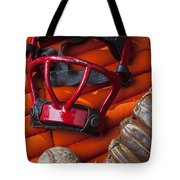 Old Catcher Mask Tote Bag by Garry Gay