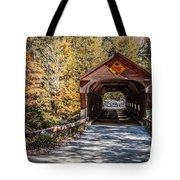 Old Covered Bridge Vermont Tote Bag by Edward Fielding