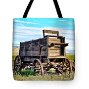 Old Covered Wagon Tote Bag by Athena Mckinzie