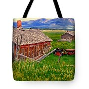 Old Homestead Near Townsend Montana Tote Bag by Michael Pickett
