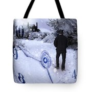 Old Man In Tophat Tote Bag by Amanda And Christopher Elwell