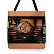 Old Mantelpiece Clock Tote Bag by Kaye Menner