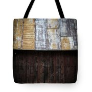 Old Rusty Tin Roof Barn Tote Bag by Edward Fielding