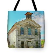 Old School House Bannack Ghost Town Montana Tote Bag by Jennie Marie Schell