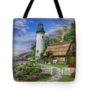 Old Sea Cottage Tote Bag by Dominic Davison