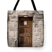 Old Stone Church Door Tote Bag by Edward Fielding