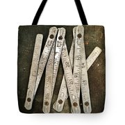 Old Tape-measure Tote Bag by Carlos Caetano