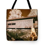 Old Time Covered Bridge Tote Bag by Paul W Faust -  Impressions of Light