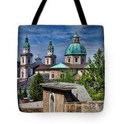 Old Town Salzburg Austria In Hdr Tote Bag by Sabine Jacobs