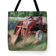 old tractor Tote Bag by Jennifer Lyon