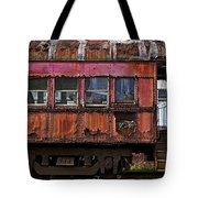 Old Train Car Tote Bag by Garry Gay