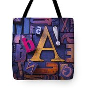 Old Typesetting Fonts Tote Bag by Garry Gay