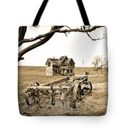 Old Wagon And Homestead Tote Bag by Athena Mckinzie